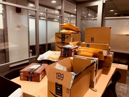 Photo: A newly arrived shipment at Harvard