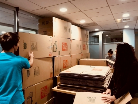 Photo: Putting boxes together