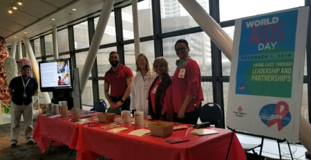 Photo: Texas Children's Staff on World AIDS Day 2018